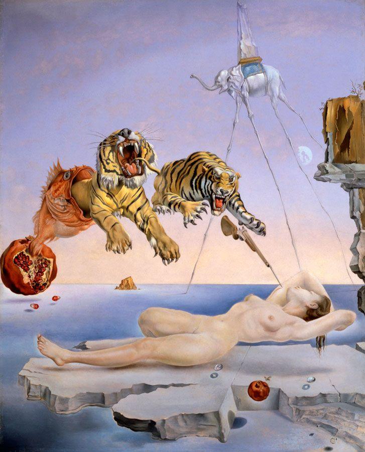 Histoire de l'art - Les mouvements dans la peinture - Le surréalisme - Salvador Dali -1931 -Reve cause par le vol d'une abeille