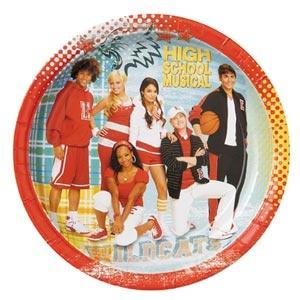 "High School Musical 9"" Dinner Plate 8/pkg"