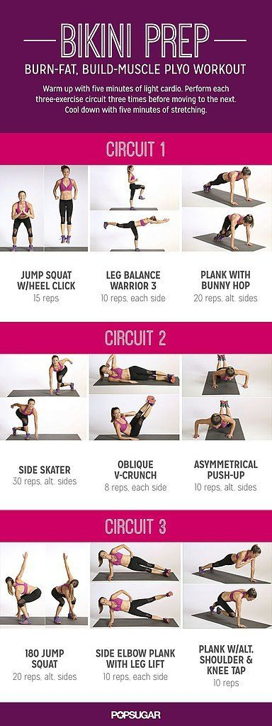 Jump, hop, and skip your way to a stronger body with this full-body plyometric workout. Learn more about each move here, then print out the workout poster so it's ready to go when you are.