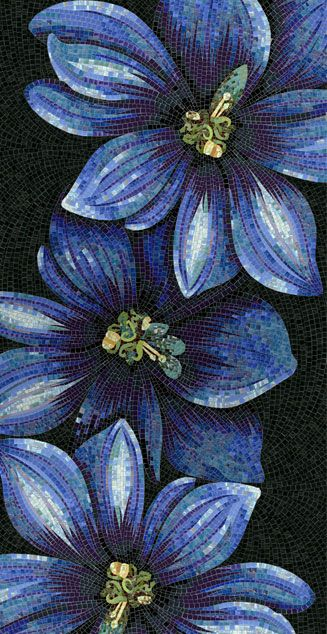 Blue Artistic Floral Mosaical Xpressions