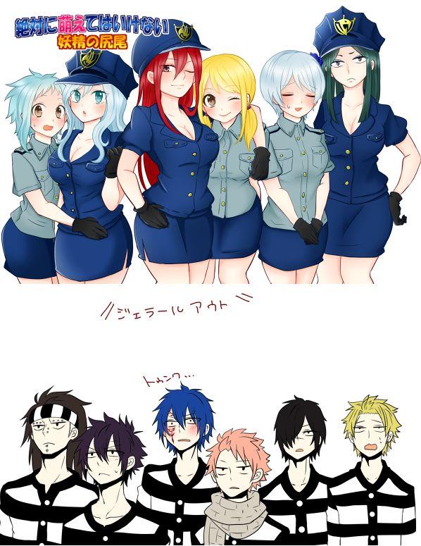 Levy, Jubia, Erza, Lucy, Yukino, Minerva, Gadjeel, Grey, Jellal, Natsu, Rogue et Sting
