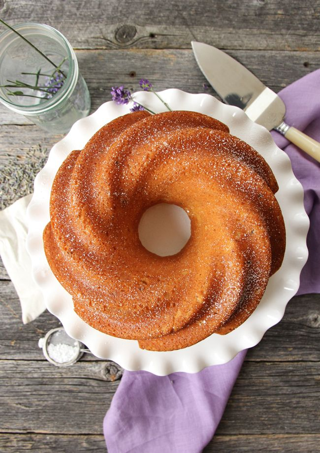 This Lavender Honey Cake is a perfect summer dessert.  The vanilla cake base is tender, with the subtle and delicious flavours of lavender and honey. via @prettysuburbs