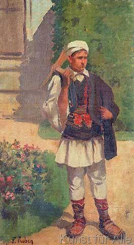 Franz Leo Ruben - Griechischer Junge