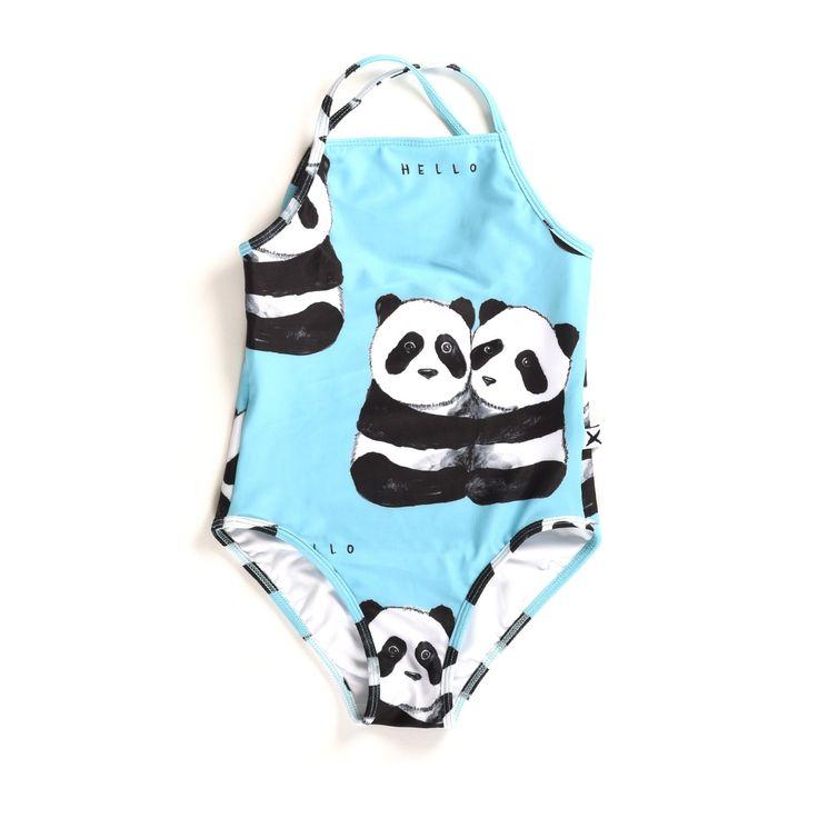 minti panda pair swimsuit – Little Pinwheel
