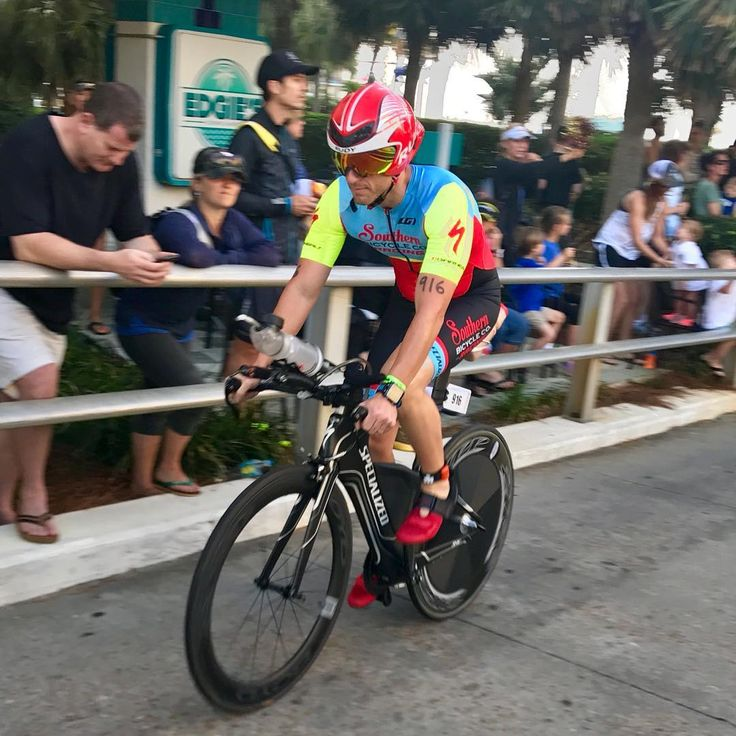 """John O'Donnell on Instagram: """"@brentvest bombing it on the bike course at Ironman Gulf Coast 70.3 rocking that @garneau Custom Southern Bicycle Kit. Brent's one of my…"""""""