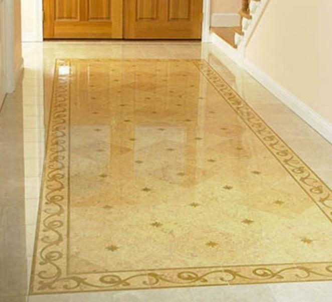 wate jet medallion water jet inlay water jet design stone water jet pattern - Tile Floor Patterns