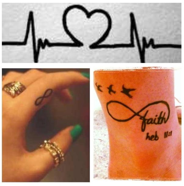 Hear beat tattoo, finger tattoo, or faith infinity tattoo ...