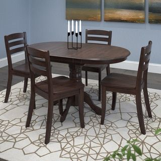 Shop for CorLiving Dillon 5 Piece Extendable Cappuccino Stained Solid Wood Dining Set. Get free delivery at Overstock.com - Your Online Furniture Shop! Get 5% in rewards with Club O! - 21888933