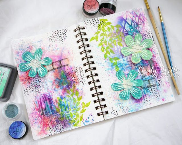 I bought a smaller journal for the moments that I have a little less time to get creative. But I need to see that it's quite chall...