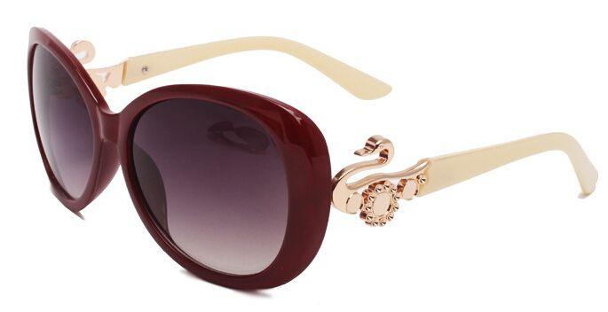 Red frame Sunglasses for women acetate aviator pilot multi yellow Swan Metal designer Sun Glasses Vintage glass 3026 Mixed $112.93