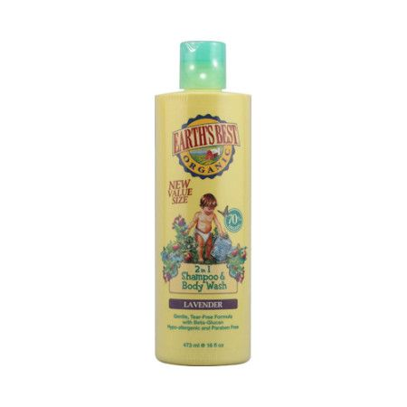 Earth's Best Organic Lavender 2-in-1 Shampoo ans Body Wash created by Jason gently cleanses baby's skin and hair with mild tear-free surfactants. This hypo-allergenic formula, lightly scented with lavender oil to clean baby during bathtime, nourishes skin and hair with Beta Glucan, Oat Oil, and Panthenol. Will not irritate eczema or cradle cap. Disclaimer These statements have not been evaluated by the FDA. These products are not intended to diagnose, treat, cure, or prevent any disease.