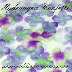 beautiful poly silk hydrangea petals are ideal for sprinkling on reception buffet cake tables etc they also add a nice accent for ceremony aisles or