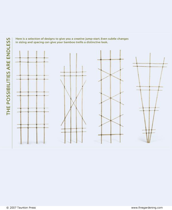 Build a Bamboo Trellis - Fine Gardening Article