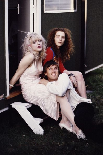 Courtney Love, Melissa Auf der Maur and Evan Dando 1994