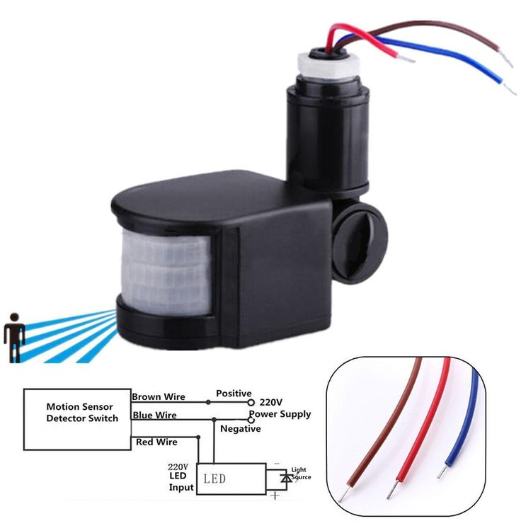 110 220v Outdoor Led Infrared Motion, Outdoor Remote Motion Light Switch