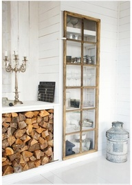Would love to do this as a mirror  vertically above chair rail in the dark dining room, but with white trim! I have old windows as bookshelf doors in Vermont house and love it.