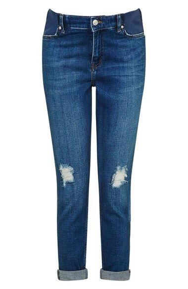 Topshop Moto 'Lucas' Maternity Boyfriend Jeans available at #Nordstrom