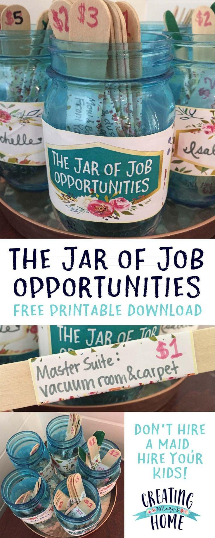 Das Jar of Job Opportunities {Geldglas