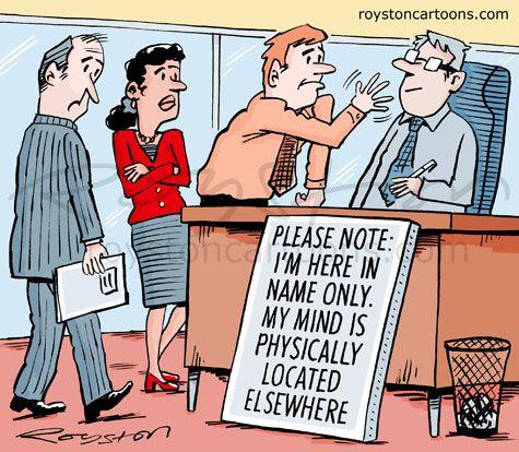 Royston Cartoons: Out of office cartoon