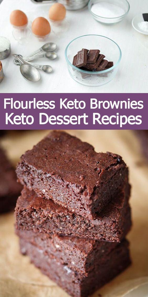 Mehllose Keto Brownies Keto Dessert-Rezepte / Keto-Diät..