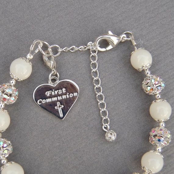 $21.00 First Communion Gift Baptism Gift Girls First by AMIdesigns