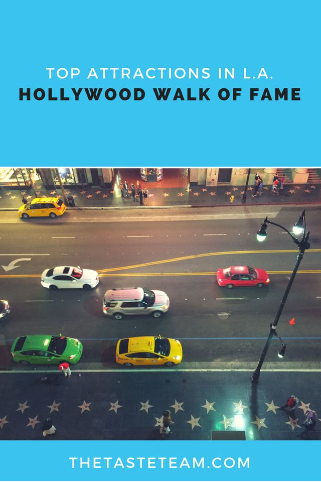 Hollywood Walk of Fame Los Angeles California Attractions