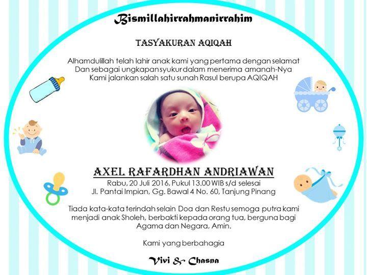 Tasyakuran Aqiqah Baby Baby Frame Kartu Nama Baby Boy