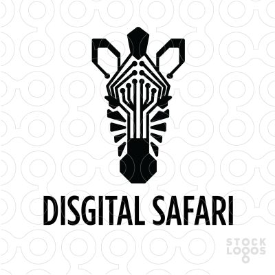 Exclusive Customizable Logo For Sale: Digital Safari   StockLogos.com