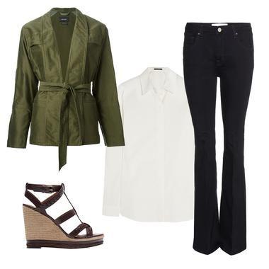 Comment porter le pantalon flare - Madame Figaro
