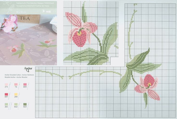 Orchid free cross stitch pattern