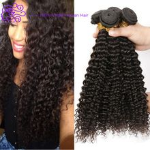 4 Bundels Braziliaanse Kinky Krullend Virgin Haar 100 g/stk Grace Haarproducten Virgin Braziliaanse Krullend Haar 100% Krullend Weave Human haar(China (Mainland))