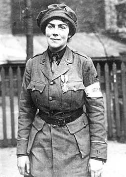 Muriel Thompson (1875-1939) Scottish suffragette; war-time ambulance driver; avid motorist, winning the first ladies' motor race held at Brooklands (1908), the Ladies' Bracelet Handicap and the Scratch Motor Car Race. As a driver for the First Aid Nursing Yeomanry (FANY), she was required to be a mechanic, and was awarded the Knight's Cross of the Order of Leopold II, for evacuating wounded Belgian soldiers under fire (1915), and the Military Medal + Croix de Guerre for courage under fire…
