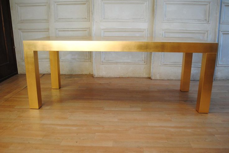 Stunning Italian Gold Leaf Dining Table French Modernist NY Hollywood Regency in VIC | eBay