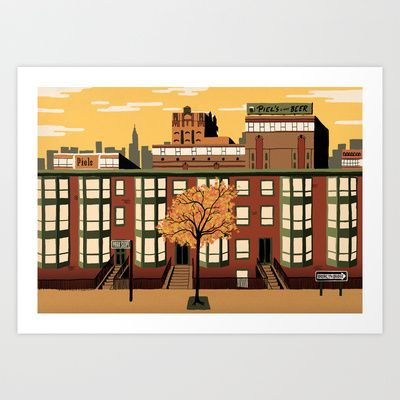 Brooklyn, New York Art Print by Sam Brewster - $25.00