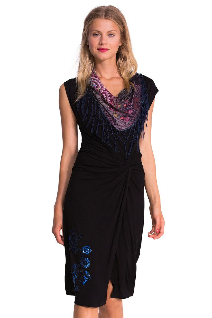 Desigual Damen Taille Empire Kleid, bedruckt: Amazon.de: Bekleidung