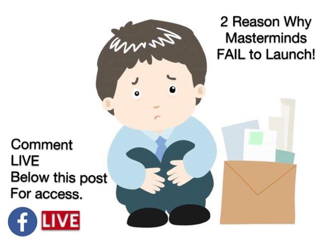 Don't be Sad, your Mastermind Failed. What many people look at is simple... turns out to not be simple! Join me today, and I will give away 2 Reasons why Masterminds FAIL to Launch. Also I will equip you with the 3 questions to determine the truth for you or the reality for you.  You can also get access to the training and our free Mastermind Manual by clicking the links below. Link to Join us: https://bit.ly/LiveLouBot Download our full Free Mastermind Manual:  A2017 - MMM - Opt-in