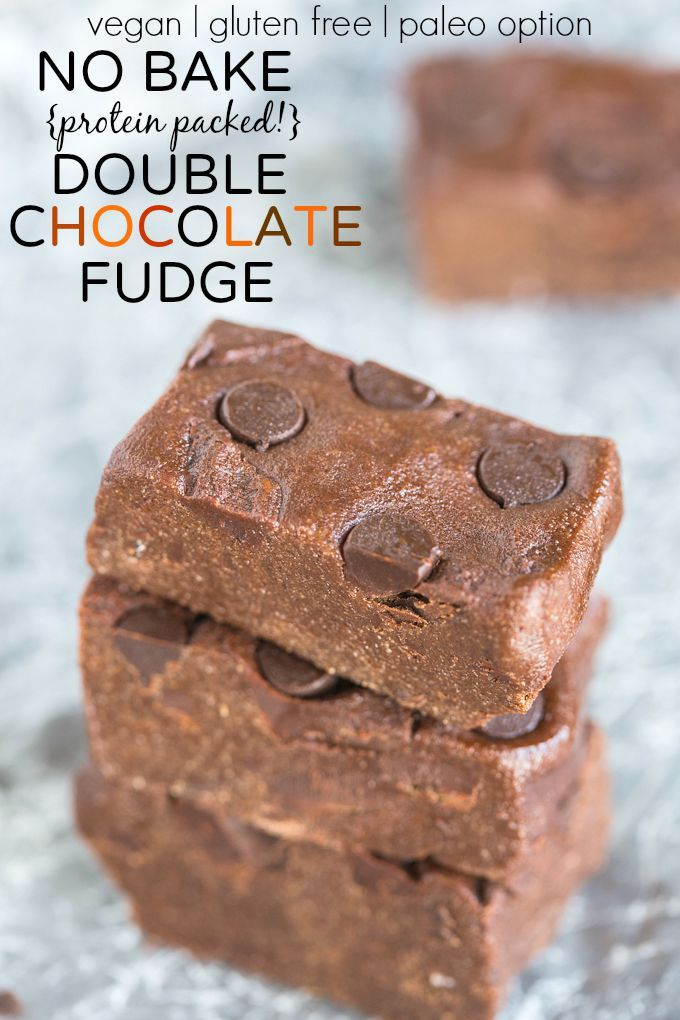 Healthy no bake, Chocolate fudge and Protein on Pinterest