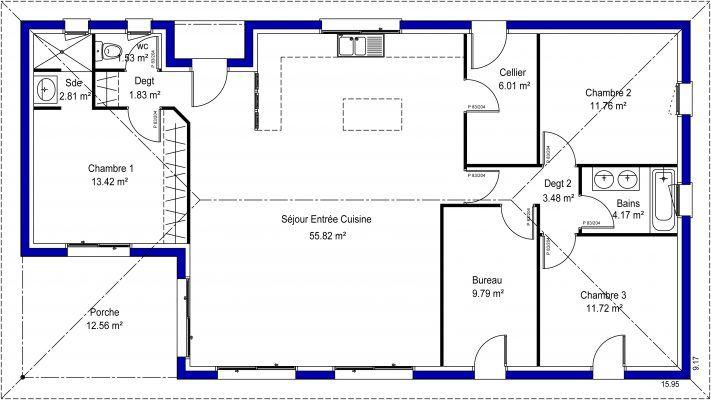 Plan Maison Contemporaine Gratuit Idées pour la maison Pinterest