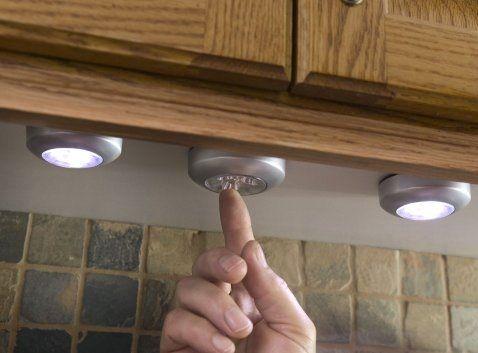 Para darle un toque estético a tu cocina sin grandes remodelaciones... LED Battery-Operated Stick-On Tap Light $7
