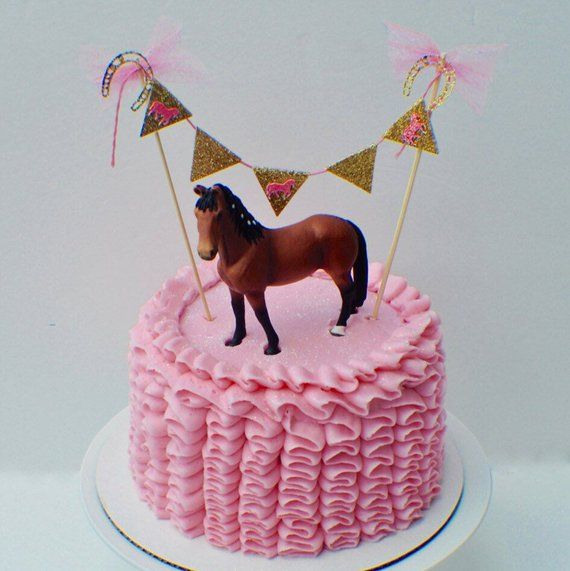 Amazing Horse Cake Topper Banner Cake Banner Horse Party Cake Topper Personalised Birthday Cards Sponlily Jamesorg