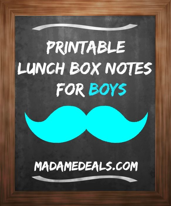 Show your little dude you are thinking about them with these free back to school printable lunch box loves notes!