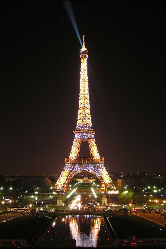 Eiffel Tower at night iPhone wallpaper | iPhone ...