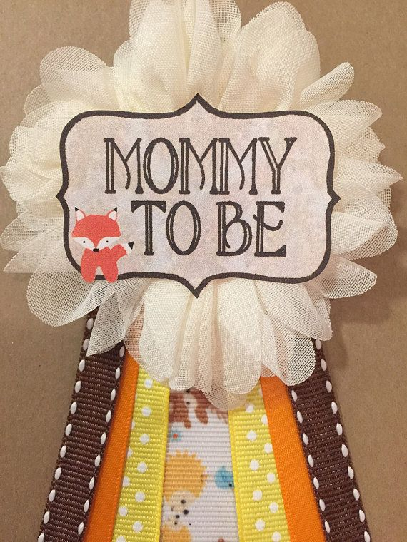 Baby Shower Woodland Animals Baby Shower Pin Mommy To Be