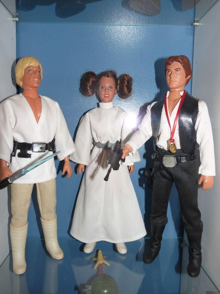 https://flic.kr/p/Le8zRo   Vintage Kenner Large Size Luke Skywalker, Leia & Han Solo Figures