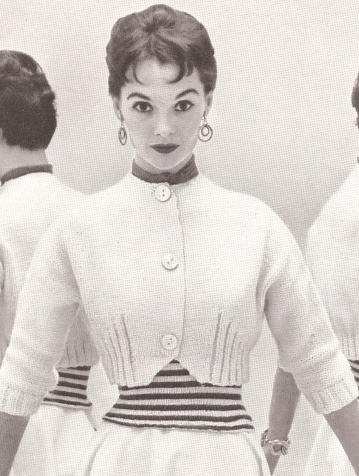 Vintage 50s KNITTED SWEATER PATTERN Spencer Jacket, Shortie, Bolero Perky Style. $6.00, via Etsy.