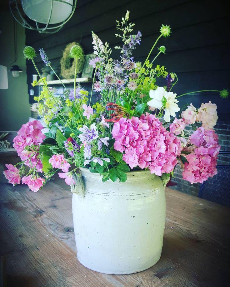Wat een heerlijk weertje. Vanmorgen vroeg de eerste echte bos bloemen geplukt uit de tuin. Heerlijk! Word ik zo blij van.  #dewemelaer#wonenlandelijkestijl#flowersofig#flowers#loveflowers#boerderijtuin#boerderijleven#farmliving