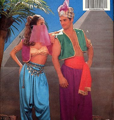 Butterick 4969 Genie Sultan Harem Costume Sewing Pattern All Sizes XS S M L
