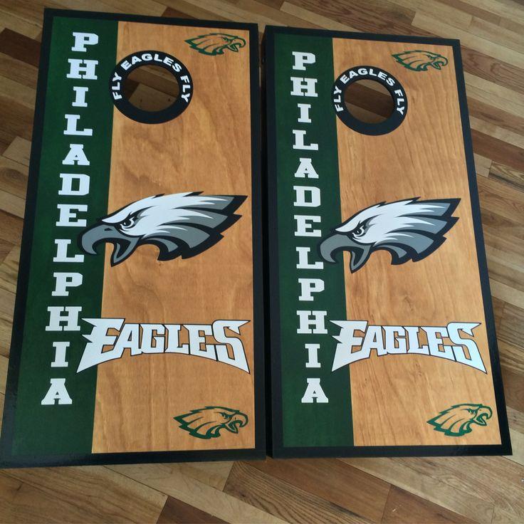 Philadelphia Eagles custom made cornhole boards/baggo/corn hole