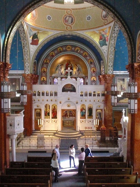 Sanctuary of Malbis Greek Orthodox Church in Malbis, Alabama
