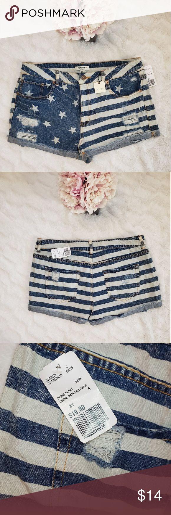 Stars and Stripes Jeansshorts Super süße NWT Stars and Stripes Jeansshorts. Pro…   – My Posh Picks
